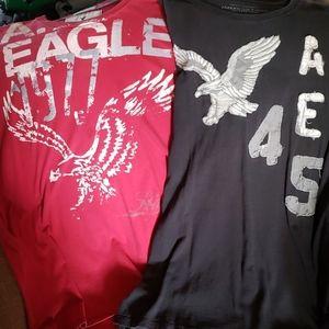 2 American Eagle mens shirts